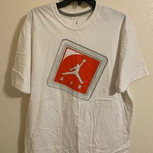 Air Jordan white tee
